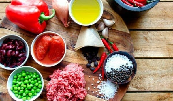 Beef Chili Ingredients