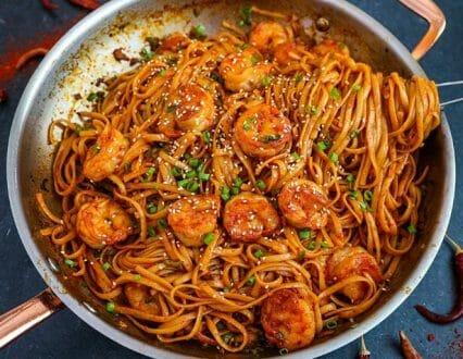 Slimming World Friendly Chili Prawns & Noodles